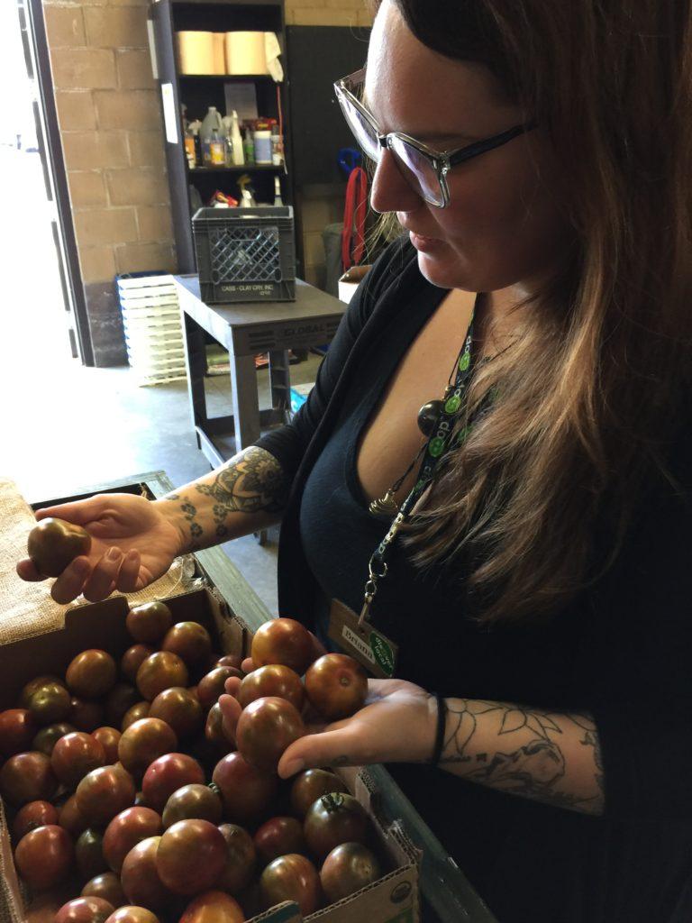 Briana, Harvest Moon produce manager extraordinaire!